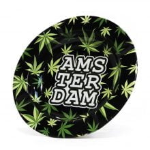 Amsterdam Green Weed Leaves Metal Ashtray