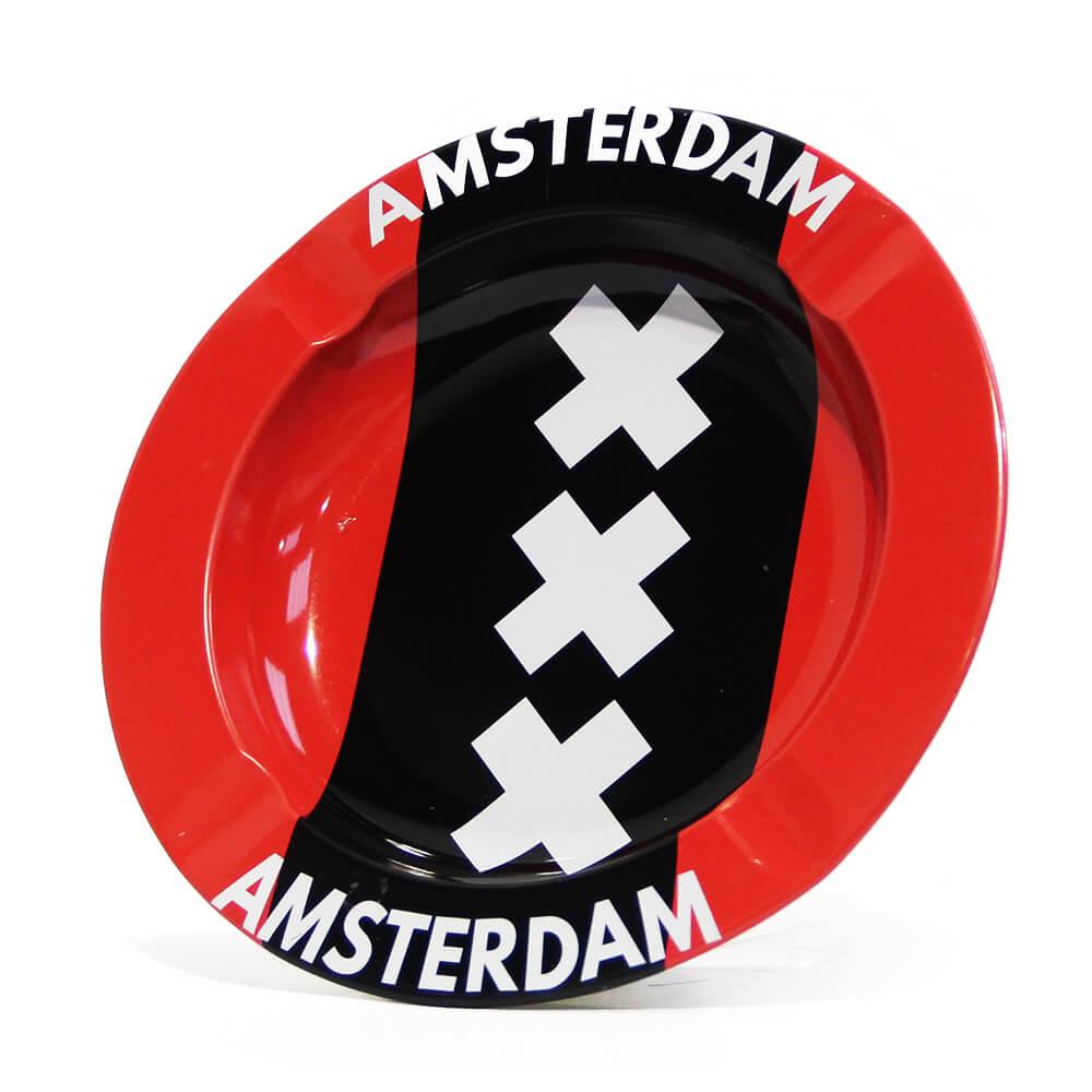 Amsterdam XXX Flag Metal Ashtray