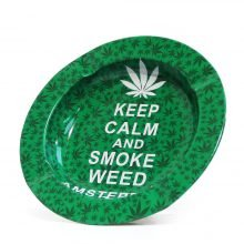 Keep Calm And Smoke Weed Metal Ashtray
