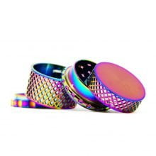 Rainbow waffel metal grinder 45mm - 4 parts (12pcs/display)