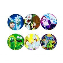 Cartoons metal grinder 50mm - 4 parts (6pcs/display)