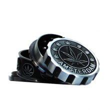 Amsterdam Leaf Silver Magnetic Metal Grinder 63mm - 4 parts (6pcs/display)