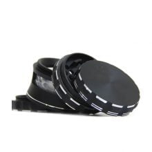 Fully Aluminium High-End Black Mechanic grinder 63mm - 4 parts (10pcs/display)