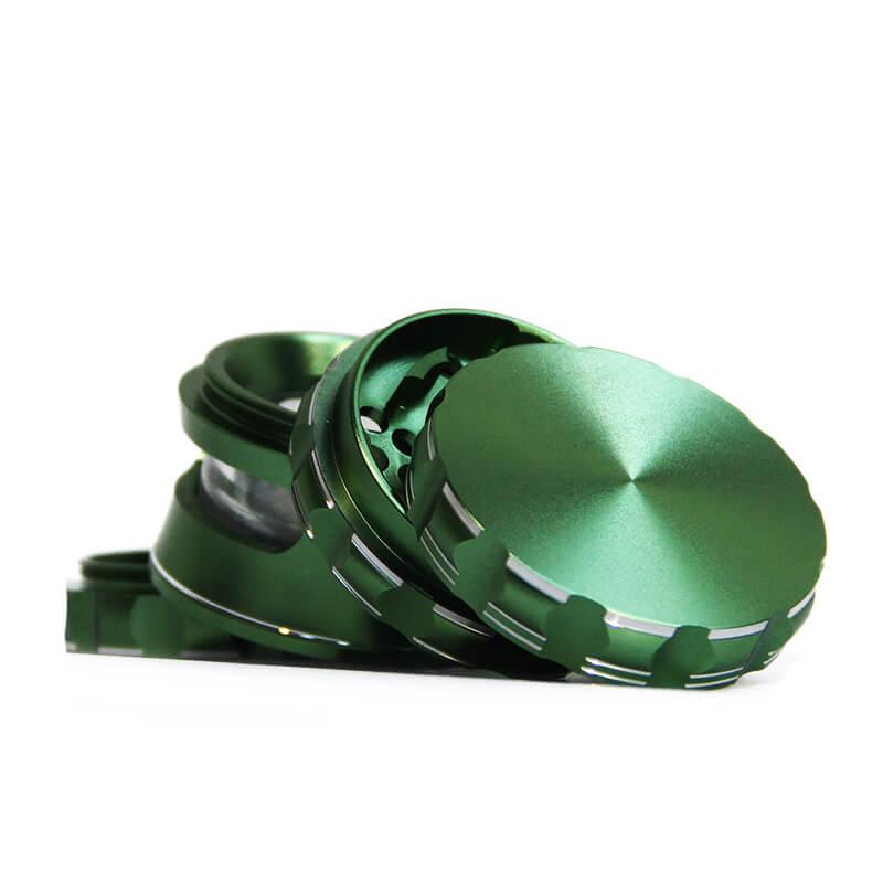Fully Aluminium High-End Green Mechanic grinder 63mm - 4 parts (10pcs/display)