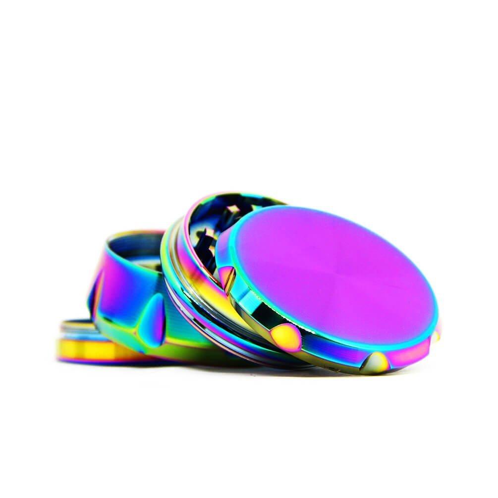 Rainbow flat metal grinder 63mm - 4 parts (6pcs/display)