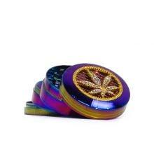 Rainbow Mix Diamond Metal Grinders 52mm - 4 parts (6pcs/display)