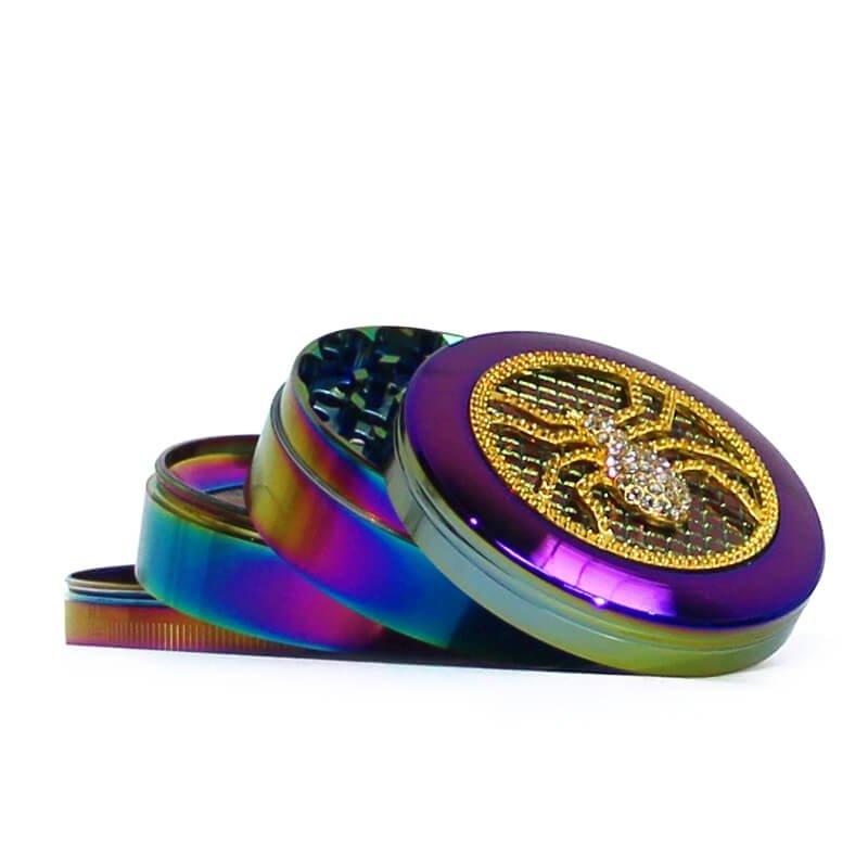 Rainbow Mix Diamond Metal Grinders 63mm - 4 parts (6pcs/display)