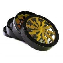Storm big gold aluminium grinder 63mm (6pcs/display)