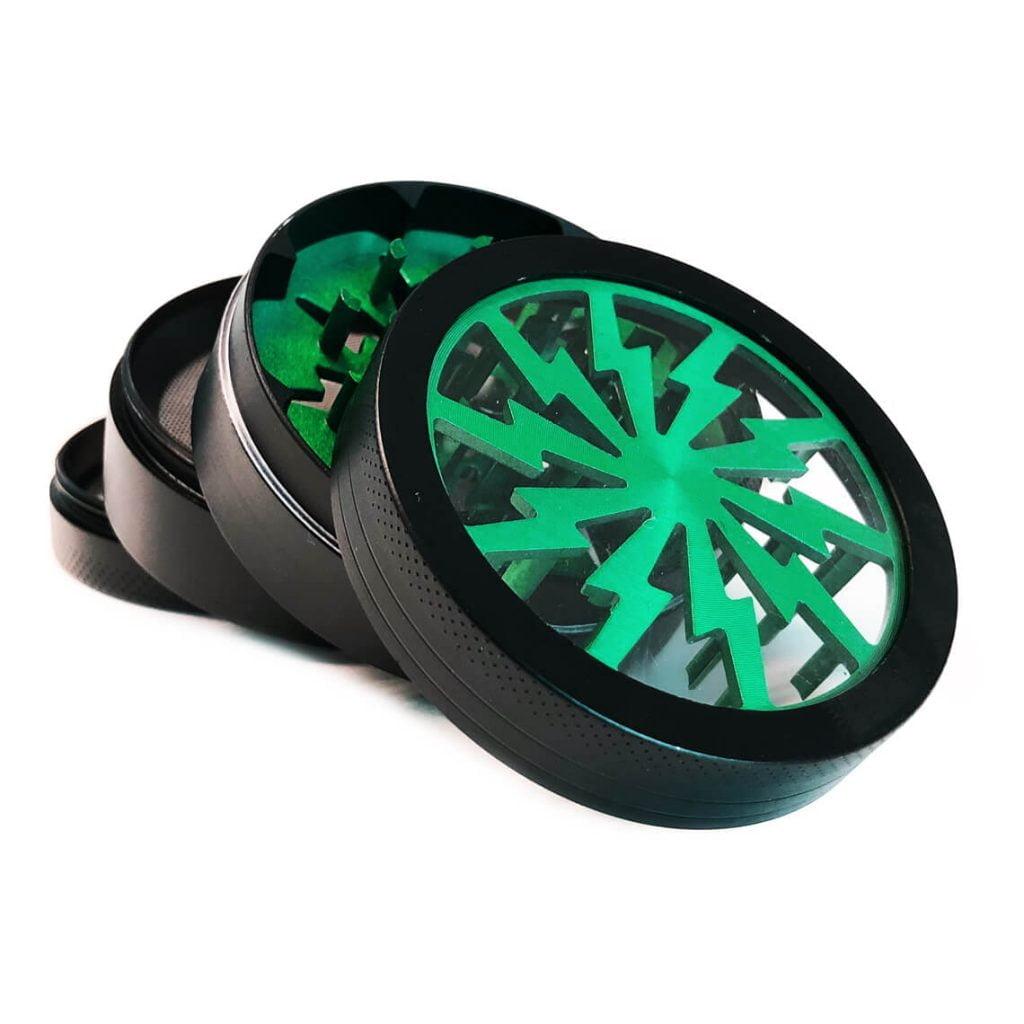 Storm big green aluminium grinder 63mm (6pcs/display)