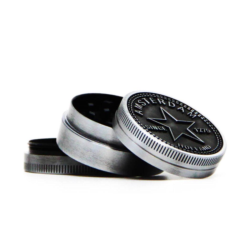 Amsterdam star small metal grinder 40mm - 3 parts (12pcs/display)