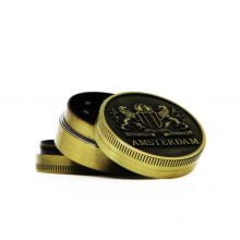 Amsterdam lions gold small metal grinder 40mm - 3 parts (12pcs/display)
