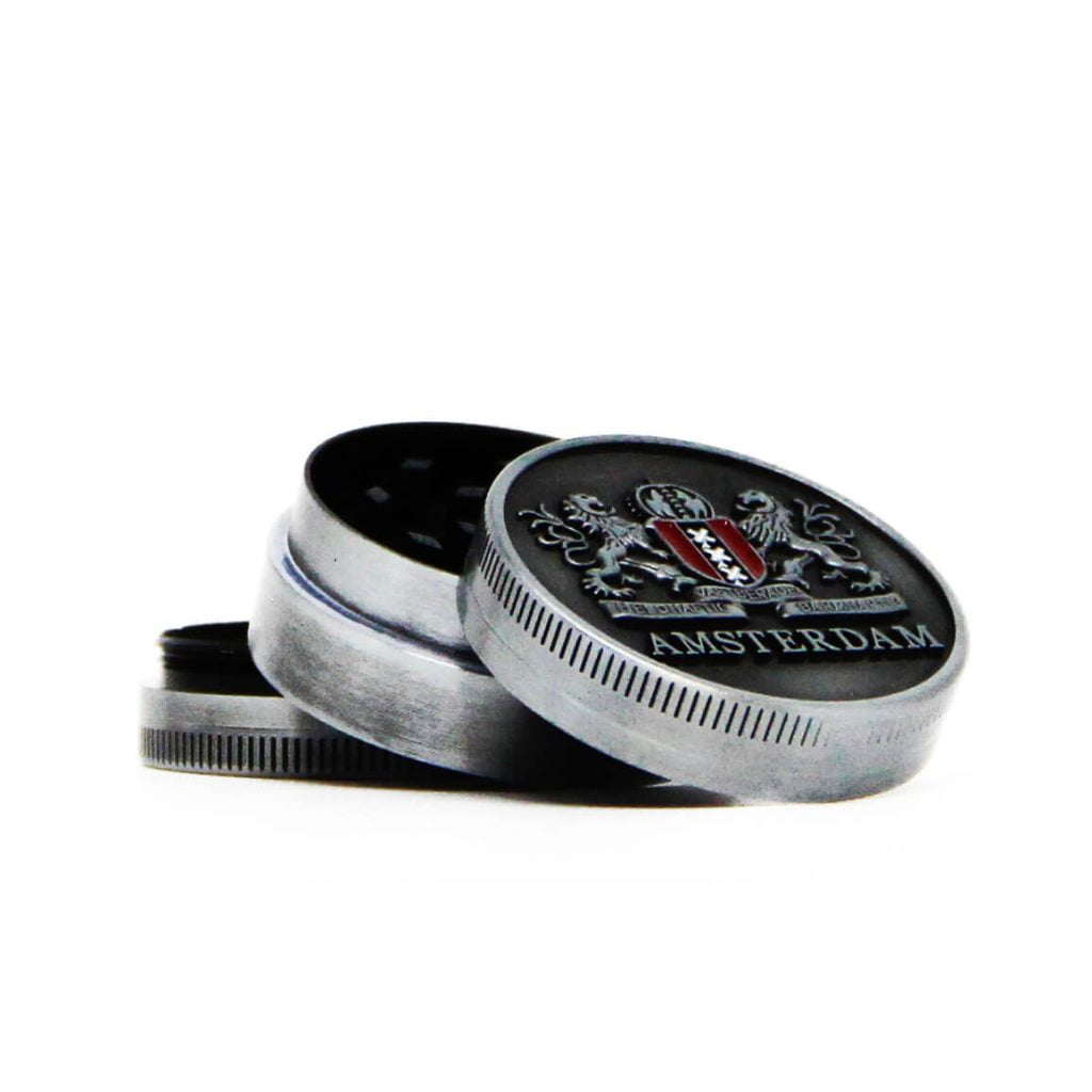 Amsterdam lions small metal grinder 40mm - 3 parts (12pcs/display)