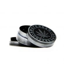 Amsterdam coffeeshop leaf small metal grinder 40mm - 3 parts (12pcs/display)