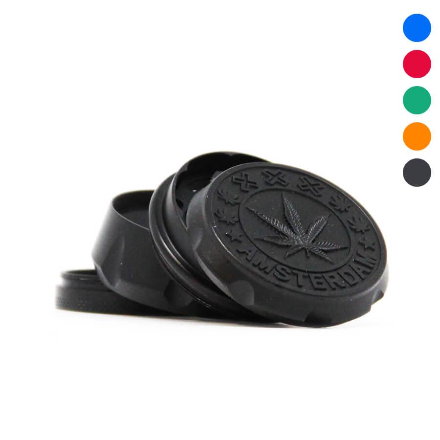4 layers Metal 50mm grinder Amsterdam leaf (12pcs/display)
