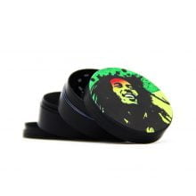 Bob Marley metal grinder 50mm - 4 parts (6pcs/display)