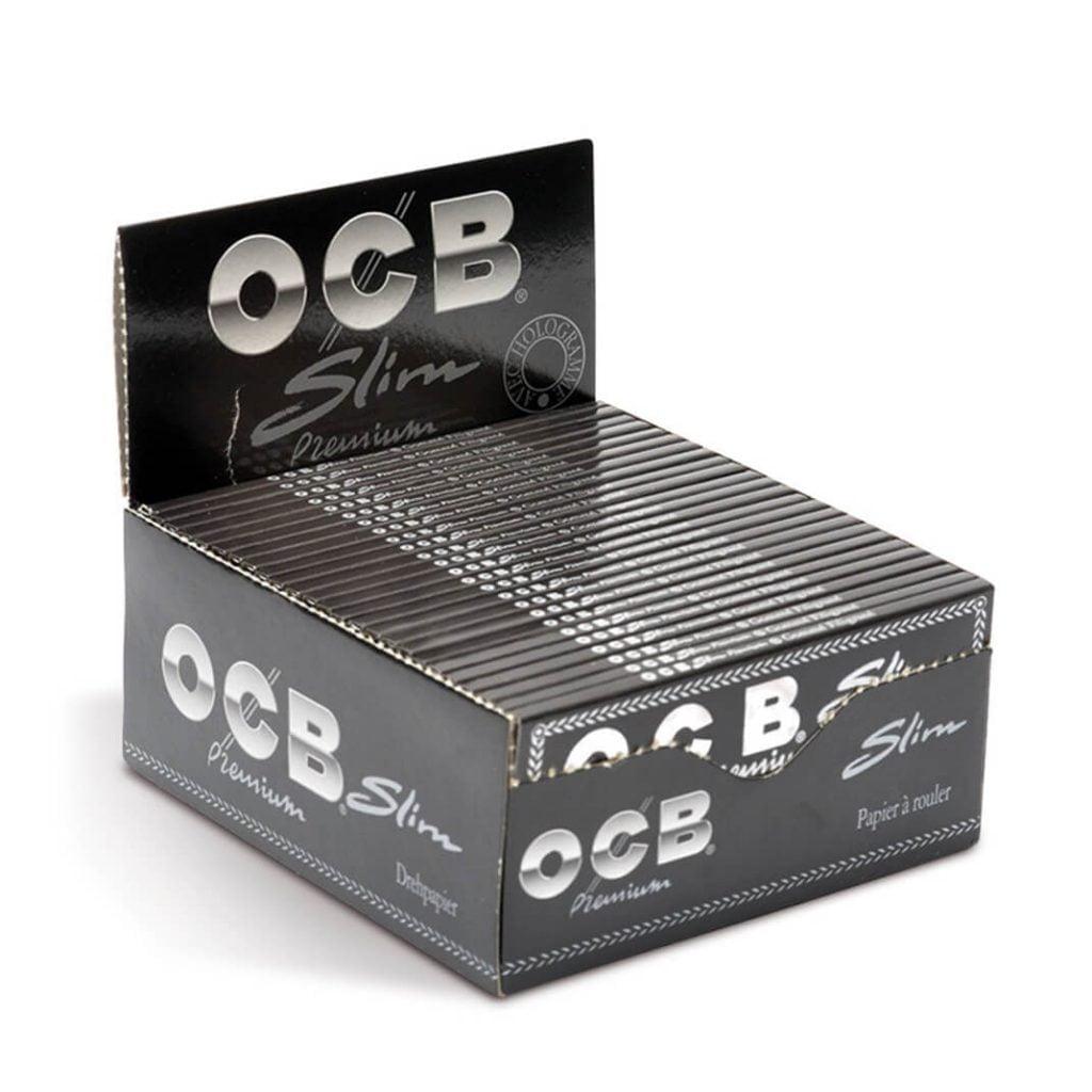 OCB Kingsize slim rolling papers (50pcs/display)