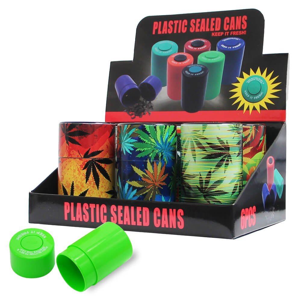 Plastic Sealed Cans Weed Elements (6pcs/display)