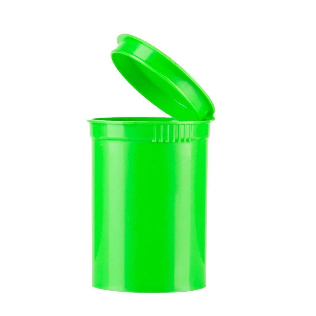Poptop green plastic cannabis container medium 50mm