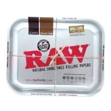 RAW - Silver Metallic Large Rolling Tray