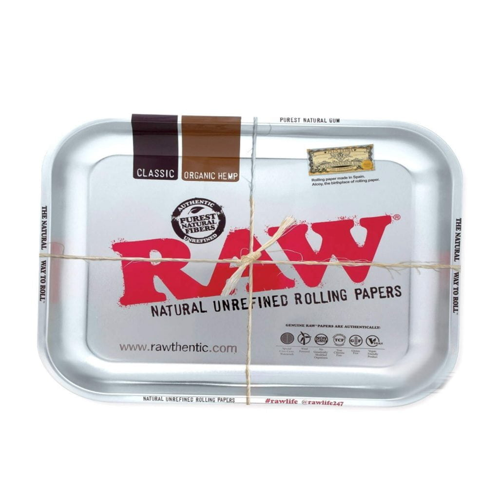 RAW - Silver Metallic Medium Rolling Tray