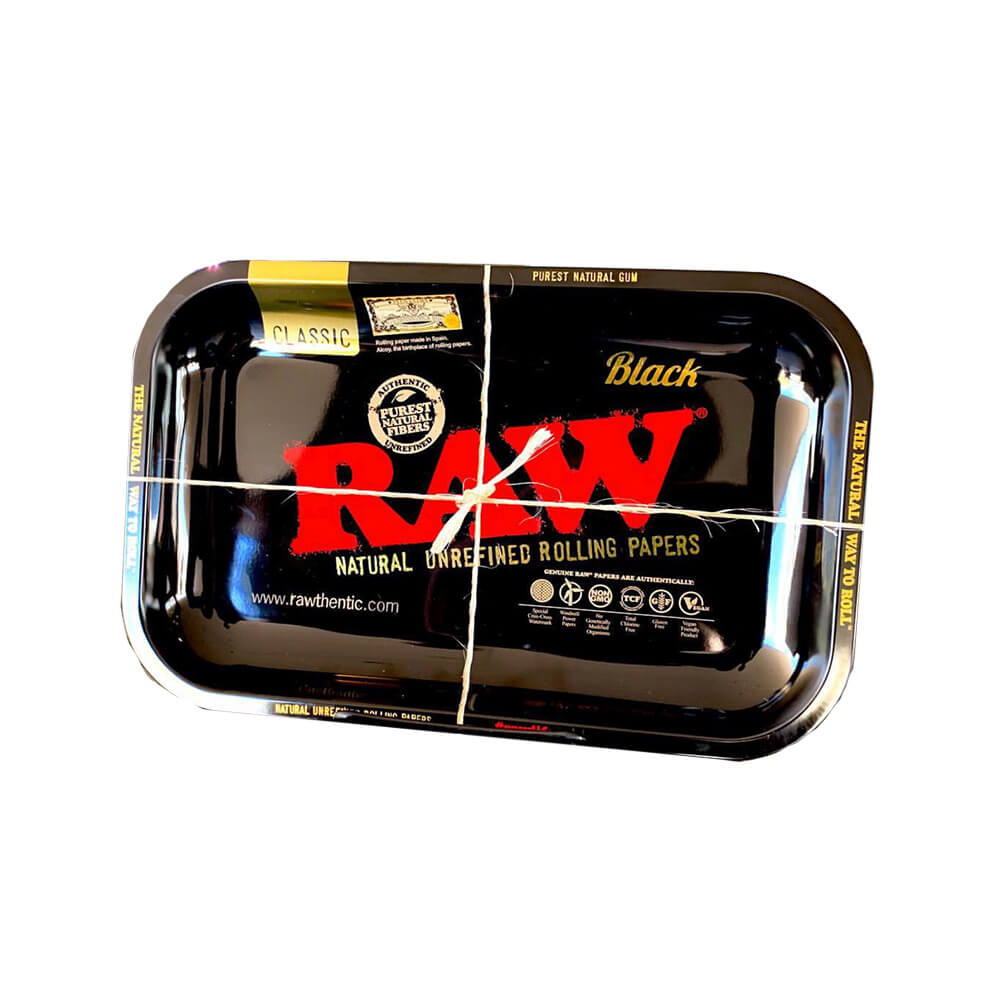 RAW - Black Medium Metal Rolling Tray