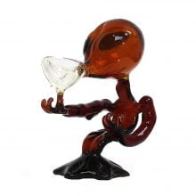 Red Alien Glass Bong 15cm