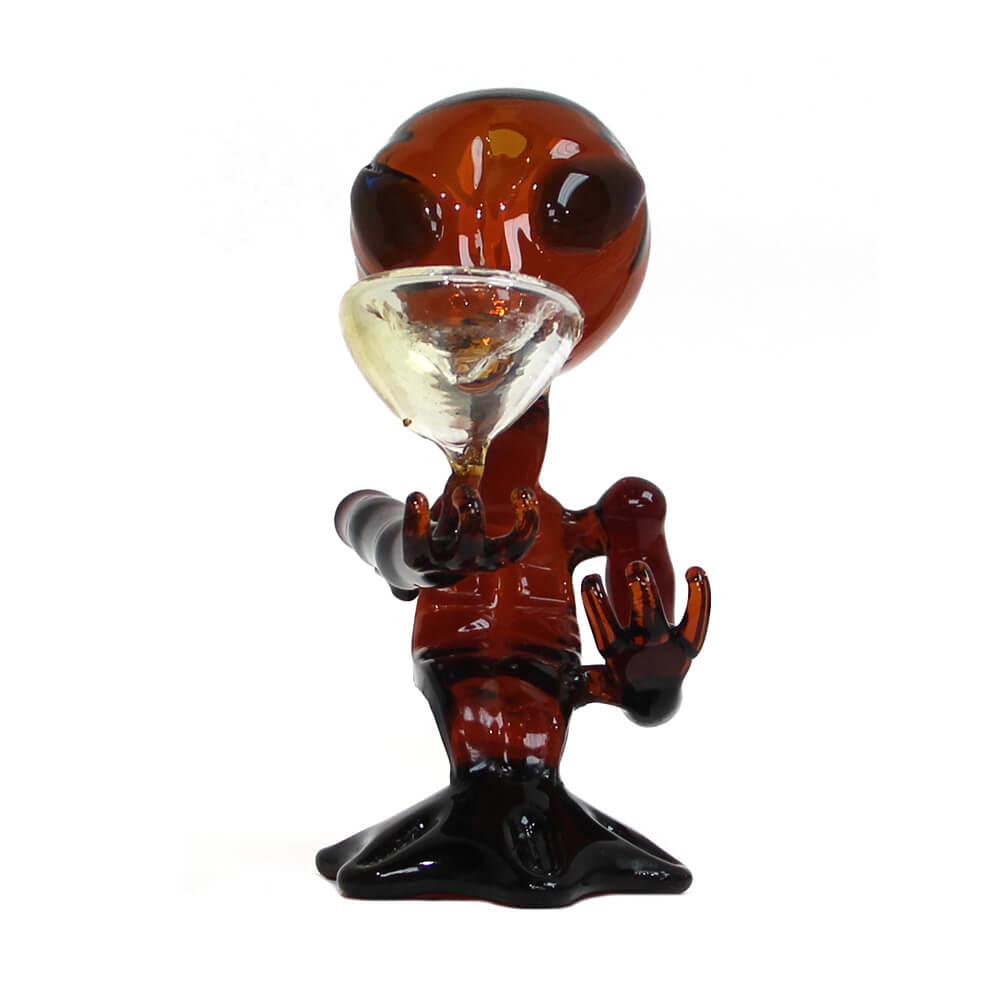 Red Alien Glass Bong 15cm