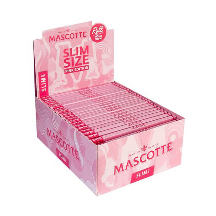 Mascotte slim size rolling papers pink edition (50pcs/display)