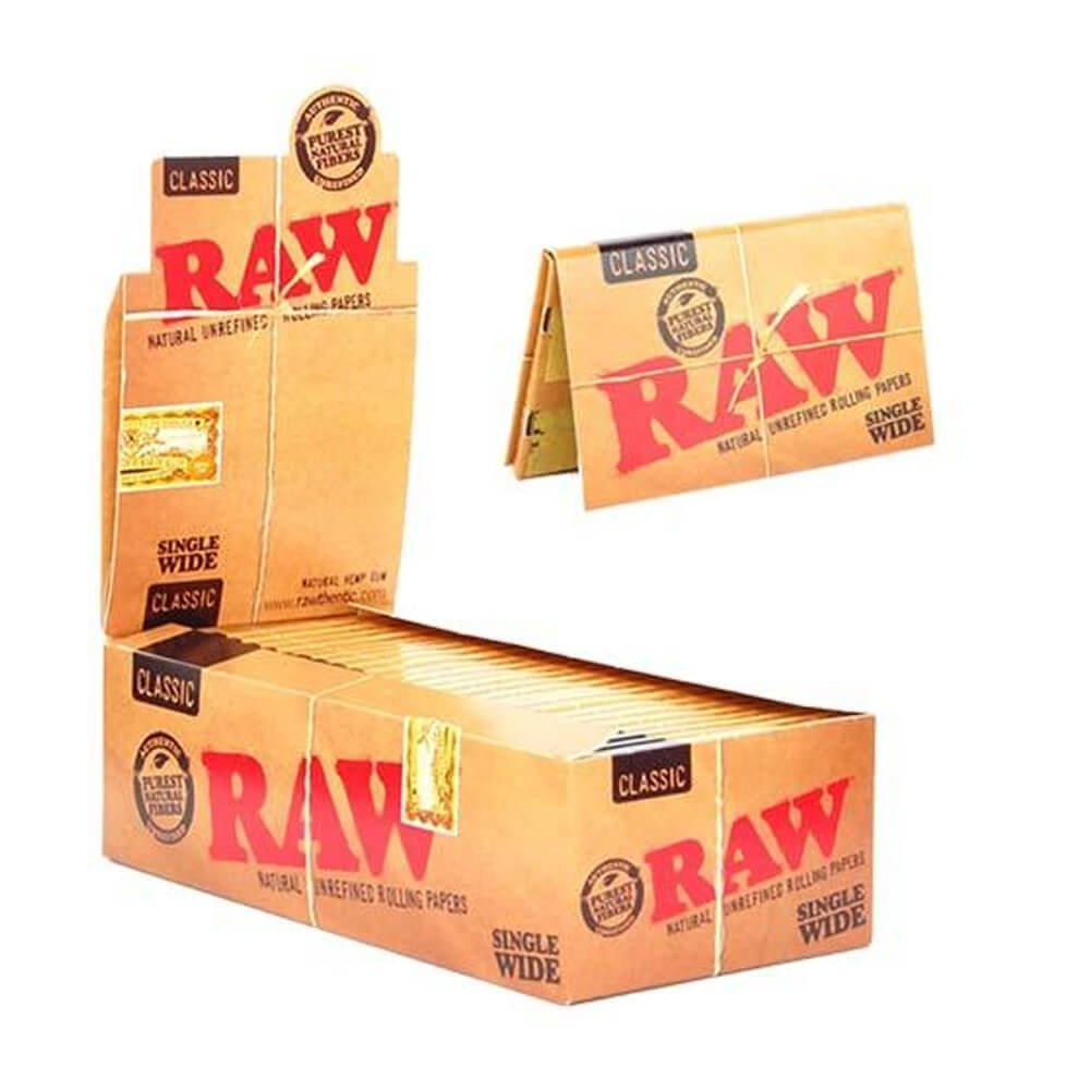 RAW Single Wide rolling papers (25pcs/display)