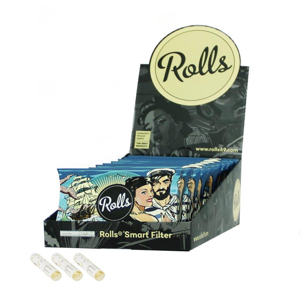Rolls Smart Filters 7mm Water 50pcs/pack (10pcs/display)