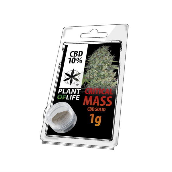 Plant of Life CBD Solid 10% Critical Mass (1g)