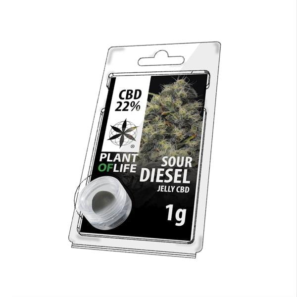 Plant of Life CBD Jelly 22% Sour Diesel (1g)