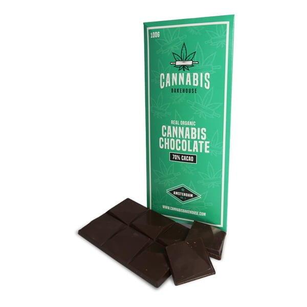 Organic Cannabis Dark Chocolate 100g (18pcs/display)