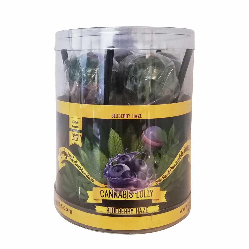 Cannabis Lollipops Blueberry Haze Flavour Giftbox 10pcs (24packs/masterbox)