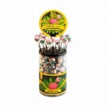 Cannabis lollipops Bubblegum THC free (100pcs/display)