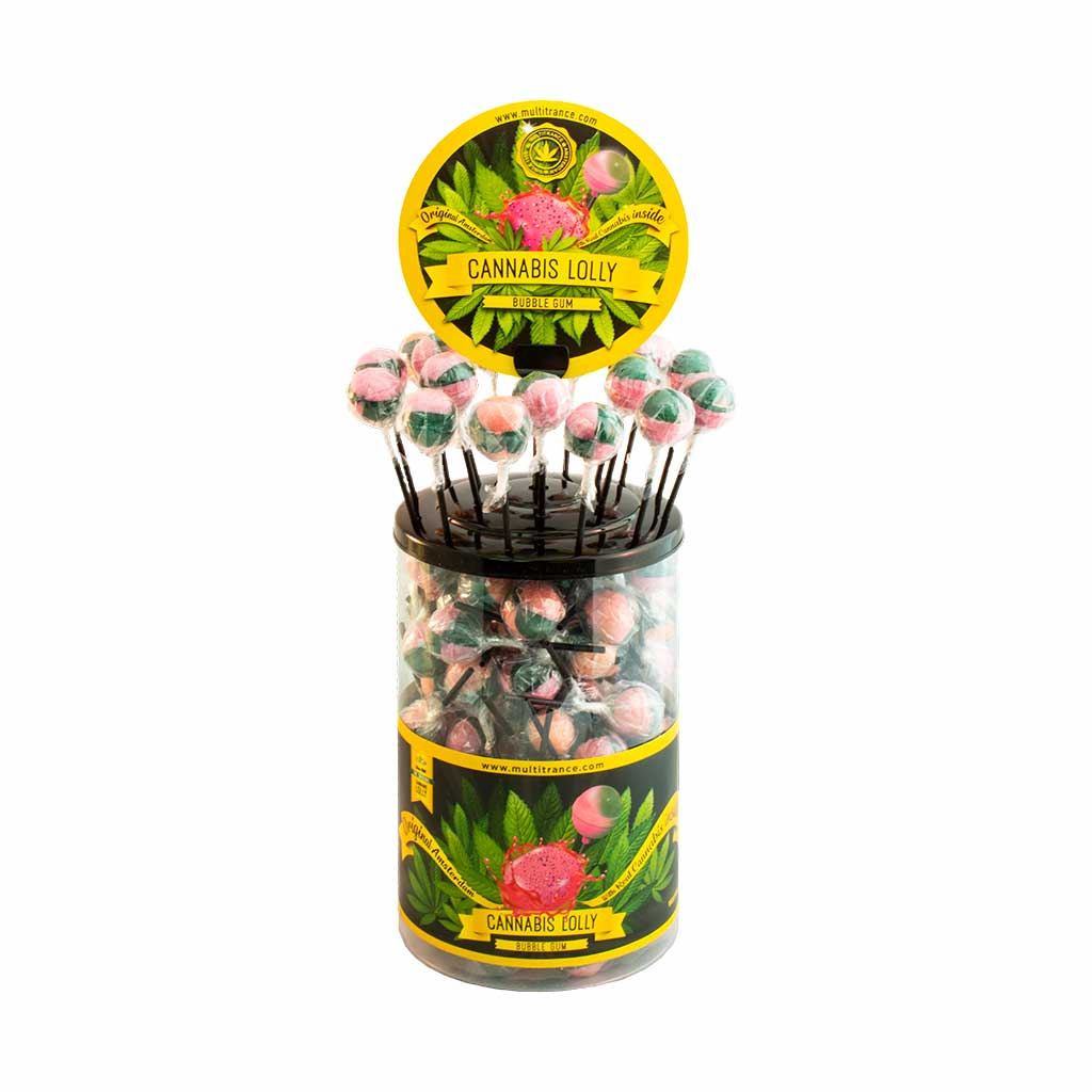 Cannabis lollipops Bubblegum THC free (100pcs/display)