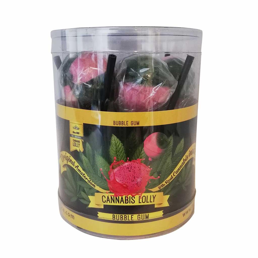 Cannabis Lollipops Bubblegum Flavour Giftbox 10pcs (24packs/masterbox)