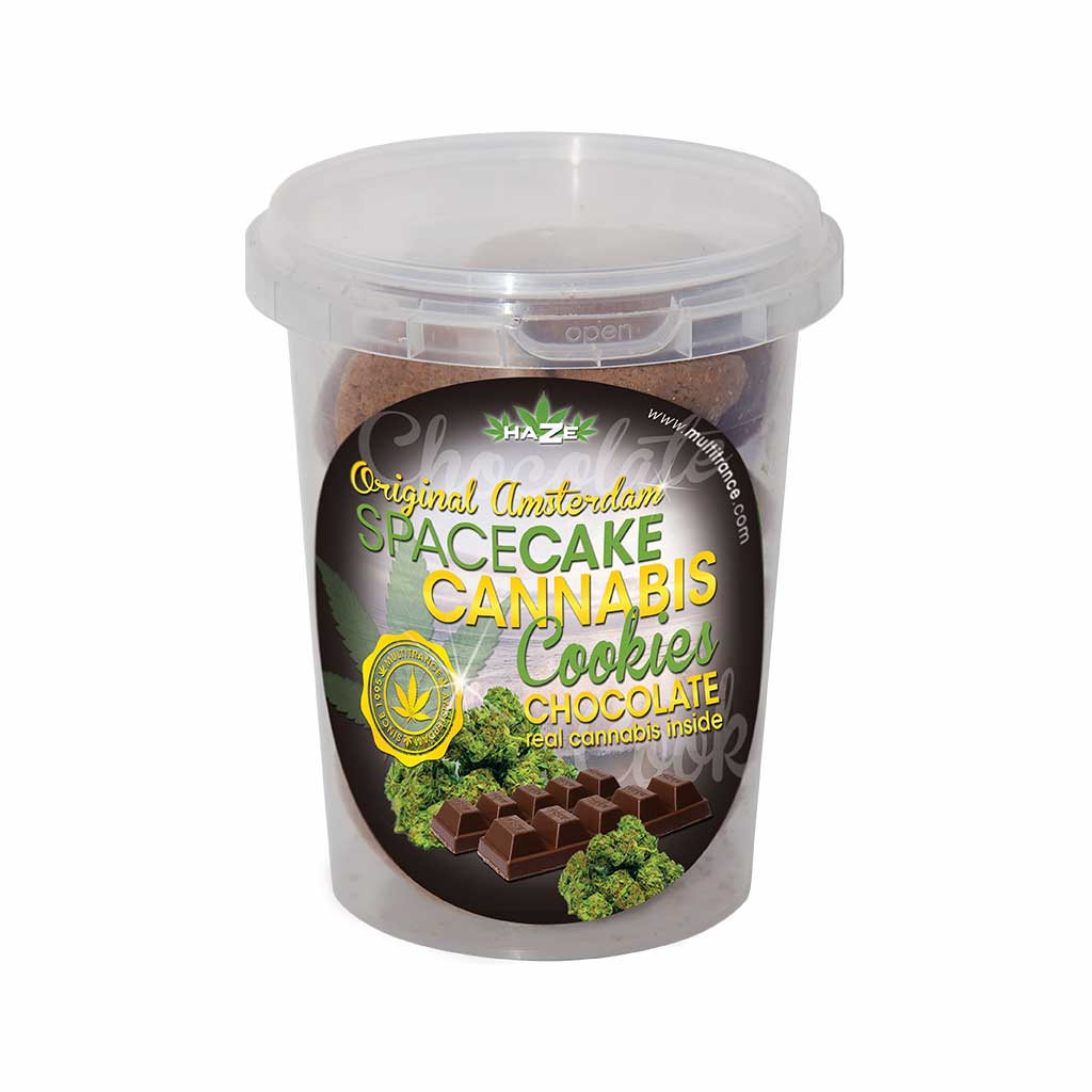 Cannabis Cookies Box Chocolate Flavour THC Free 150g (24box/masterbox)