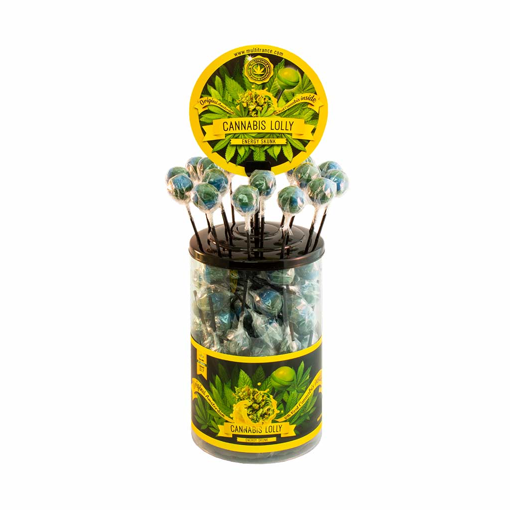 Cannabis lollipops Energy Skunk THC free (100pcs/display)