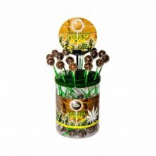Cannabis lollipops hash flavour THC free (100pcs/display)