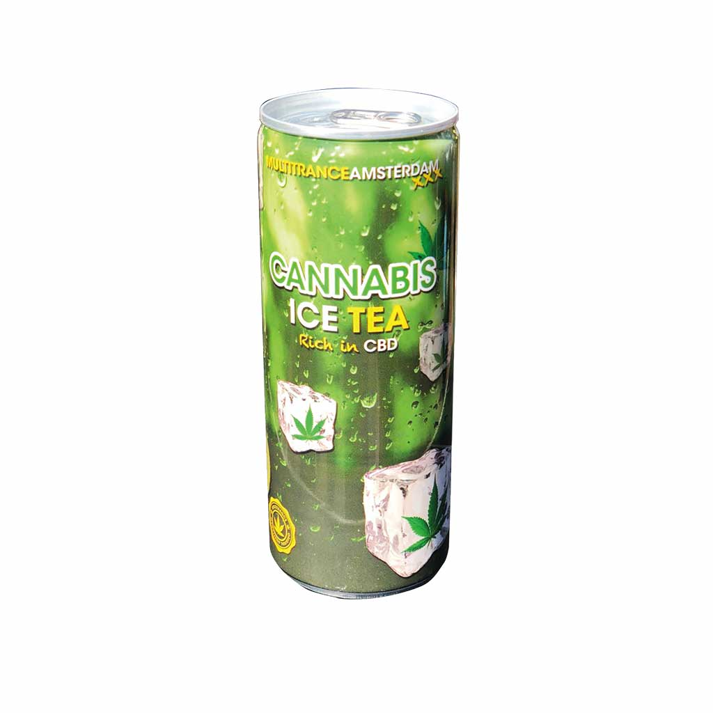 Cannabis Ice Tea Soft Drink 250ml THC Free (24cans/masterbox)