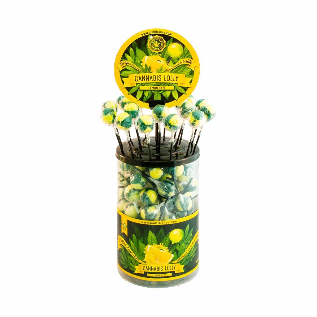 Cannabis lollipops Lemon Haze THC free (100pcs/display)