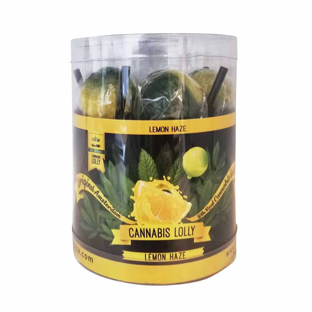 Cannabis Lollipops Lemon Haze Flavour Giftbox 10pcs (24packs/masterbox)