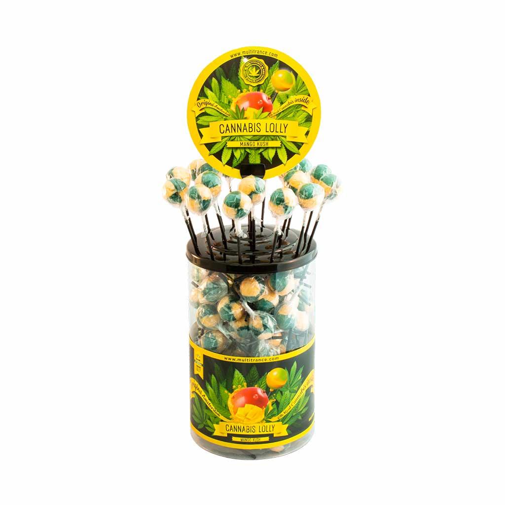 Cannabis lollipops Mango Kush THC free (100pcs/display)
