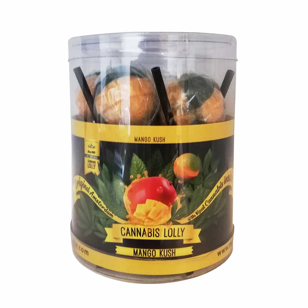 Cannabis Lollipops Mango Kush Flavour Giftbox 10pcs (24packs/masterbox)