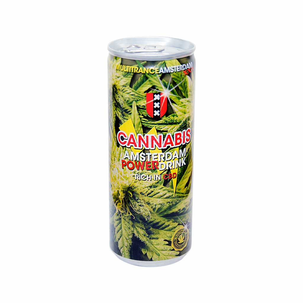 Amsterdam Cannabis Energy Drink 250ml THC Free (24cans/masterbox)