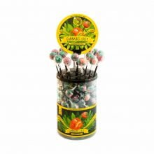 Cannabis lollipops Strawberry Haze THC free (100pcs/display)
