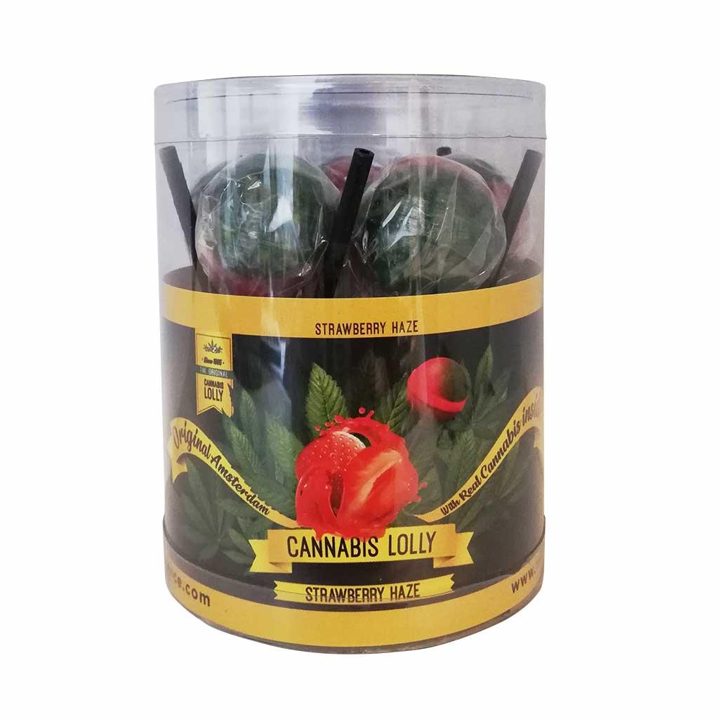 Cannabis Lollipops Strawberry Haze Flavour Giftbox 10pcs (24packs/masterbox)