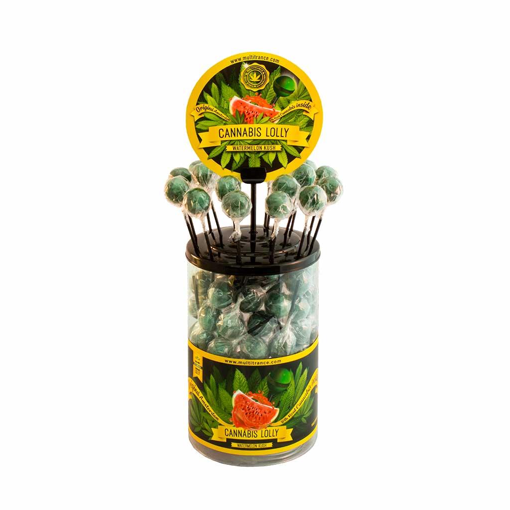 Cannabis lollipops Watermelon Kush THC free (100pcs/display)