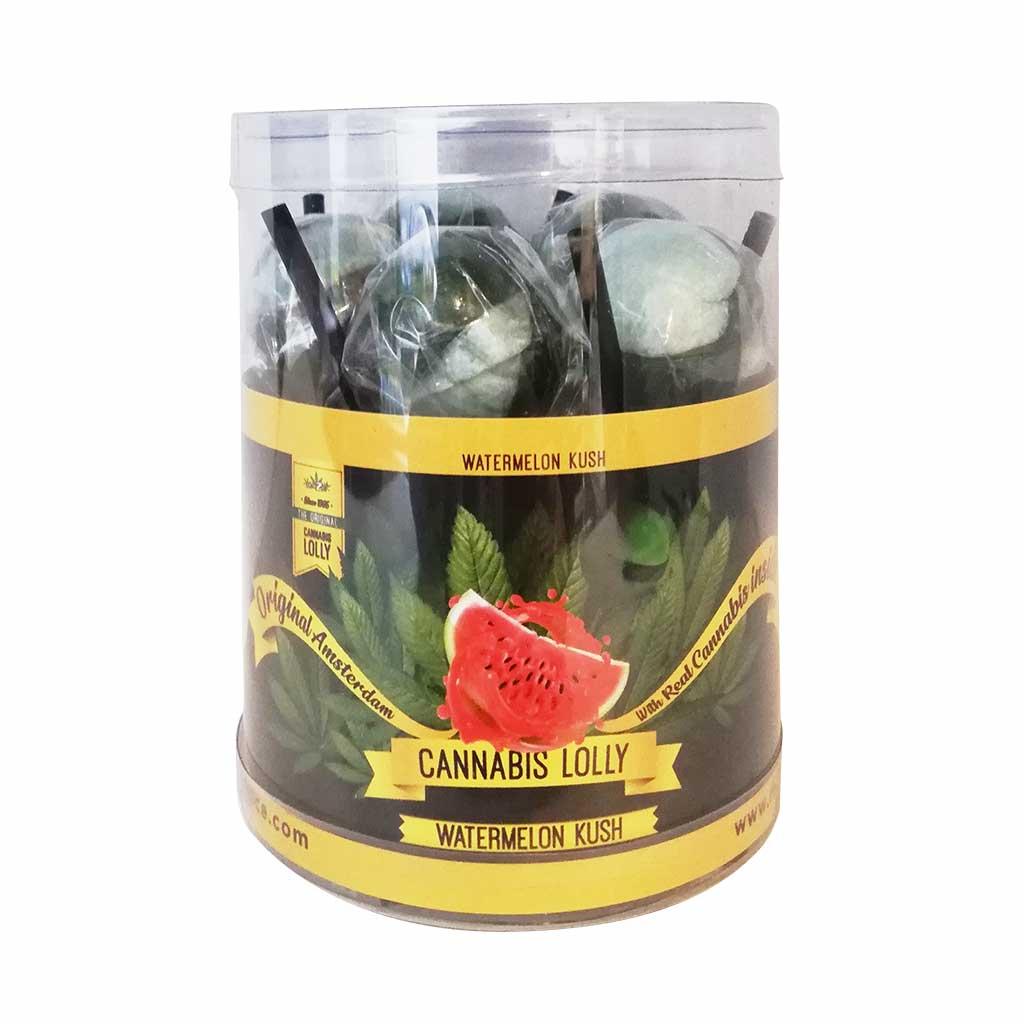 Cannabis Lollipops Watermelon Kush Flavour Giftbox 10pcs (24packs/masterbox)